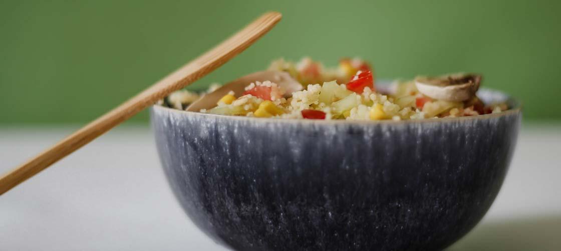 Recette de salade fraicheur aux crudités et Céréales et Saveur Nature